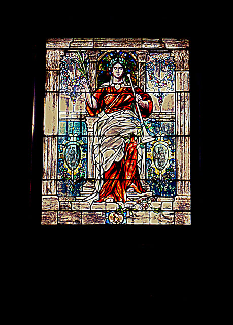 mount pleasant cemetery stain glass